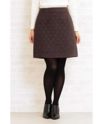 PROPORTION BODY DRESSING/ドットジャガード台形ミニスカート/501304941
