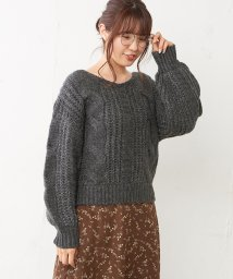 NICE CLAUP OUTLET/ケーブルニット/501305222