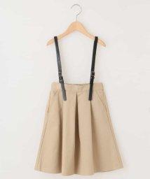 a.v.v(KID'S)/[100-130]合皮サスペンダー付きミディ丈スカート[WEB限定サイズ]/501308840