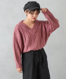 NICE CLAUP OUTLET/モヘヤタッチニット/501305226