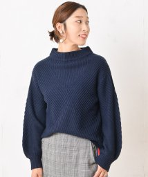 NICE CLAUP OUTLET/斜め切り替えニット/501305235