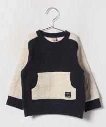 petit main/ジャカード袖切り替えTシャツ/501295966