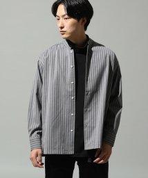 JUNRed/シャドーストライプ2wayカラーシャツ/501309102