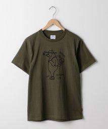 coen/USAコットンベアプリントTシャツ/501146972