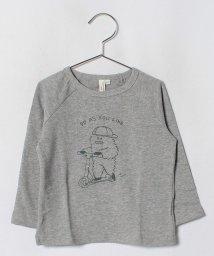 LAGOM/イエティプリントラグランTシャツ/501292813