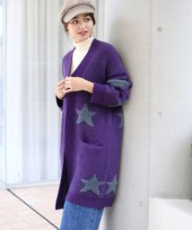 Bou Jeloud/シャギー星ジャガードコーディガン/501298575