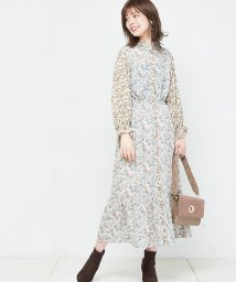 NICE CLAUP OUTLET/【natural couture】NEWプレイフル花*花ワンピース/501305205