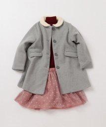 SHIPS KIDS/SHIPS KIDS:ボア カラー コート(グレー)(80~90cm)/501312508