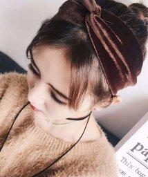 miniministore/ベロア ヘアバンド レディース 幅広 ヘアアクセサリー 髪飾り 雑貨 無地 ヘッドバンド/501312803