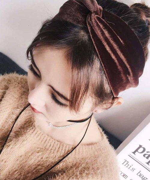 miniministore(ミニミニストア)/ベロア ヘアバンド レディース 幅広 ヘアアクセサリー 髪飾り 雑貨 無地 ヘッドバンド/1MIS-002