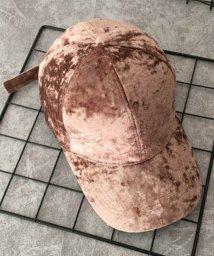 miniministore/ベロアキャップ レディース 秋冬 帽子 無地 軽量 CAP つば広 小物 カーブキャップ/501312813