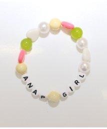 ANAP GiRL/ロゴ入カラフルビーズブレスレット/501313696