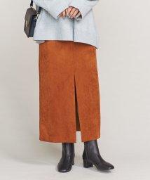 BEAUTY&YOUTH UNITED ARROWS/BY スウェードライクフロントスリットスカート/501313861