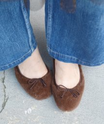 SHIPS WOMEN/【khaju】Bisue Ballerinas:フェイクファーシューズ/501314368