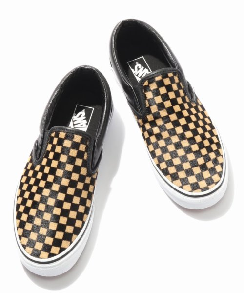 JOURNAL STANDARD relume Men's(ジャーナルスタンダード レリューム メンズ)/VANS / ヴァンズ CLASSIC SLIP-ON - CALF HAIR CHECKER/18093465003230