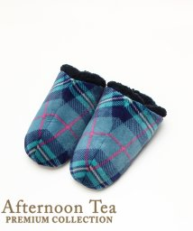 Afternoon Tea LIVING/タータンチェック柄ナポレオンルームシューズ/501277229