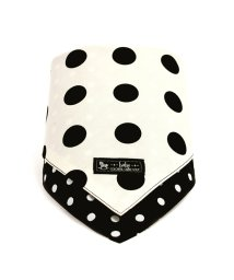 baby COLORFUL CANDY STYLE/スタイ ハンカチタイプ polkadotlarge(broadcloth・white)×水玉・ブラック/501299309
