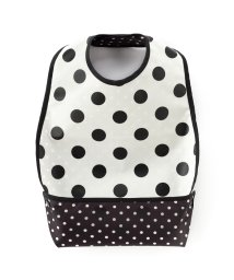 baby COLORFUL CANDY STYLE/お食事エプロン スタイ・ビブタイプ polkadotlarge(broadcloth・white)×水玉黒/501299322