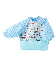 baby COLORFUL CANDY STYLE/お食事エプロン 長袖タイプ てくてくロンドン行進曲(スケアー地・ライトブルー)/501299326