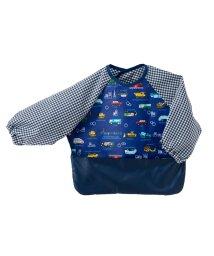 baby COLORFUL CANDY STYLE/お食事エプロン 長袖タイプ アクセル全開はたらく車(スケアー地・ロイヤルブルー)/501299329
