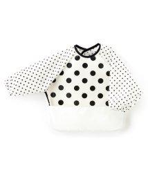 baby COLORFUL CANDY STYLE/お食事エプロン 長袖タイプ polkadotlarge(broadcloth・white)×白地に黒ドット/501299330