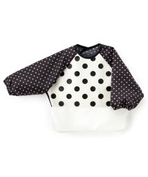 baby COLORFUL CANDY STYLE/お食事エプロン 長袖タイプ polkadotlarge(broadcloth・white)×水玉黒/501299331