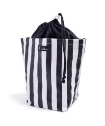 baby COLORFUL CANDY STYLE/消臭おむつポーチ 巾着タイプ widestripe(broadcloth・black)/501299335