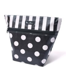 baby COLORFUL CANDY STYLE/消臭おむつポーチ ファスナータイプ polkadotlarge(broadcloth・black)/501299336