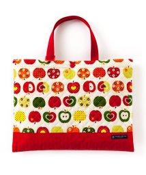 COLORFUL CANDY STYLE/【入学・入園グッズ】レッスンバッグ キルティング(ループ付き) おしゃれリンゴのひみつ(アイボリー)/501299375