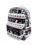 COLORFUL CANDY STYLE/【通園・通学】リュックサック(チェストベルト付き) ピアノの上で踊る黒猫ワルツ(ブラック)/501299391