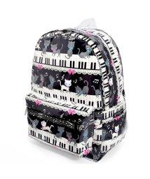 COLORFUL CANDY STYLE/リュックサック(チェストベルト付き) ピアノの上で踊る黒猫ワルツ(ブラック)/501299391