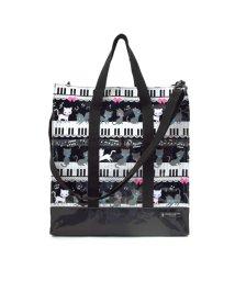 COLORFUL CANDY STYLE/縦型レッスンバッグ・音楽バッグ ピアノの上で踊る黒猫ワルツ(ブラック)/501299407