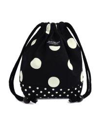 COLORFUL CANDY STYLE/【通園・通学】decorPolkaDot 巾着 小 コップ袋 polkadotlarge(twill・black)xpolkadotsmall(twill・bl/501299429