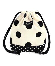 COLORFUL CANDY STYLE/decorPolkaDot 巾着 小 コップ袋 polkadotlarge(twill・white)xpolkadotsmall(twill・black)/501299430