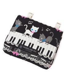 COLORFUL CANDY STYLE/移動ポケット・付けポケット【ラージタイプ】 ピアノの上で踊る黒猫ワルツ(ブラック)/501299459