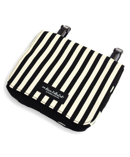 COLORFUL CANDY STYLE(カラフルキャンディスタイル)/decorPolkaDot移動ポケット・付けポケット【ラージ】polkadotlarge(twill・black)xnarrowstripe(twill・bla/N6080010