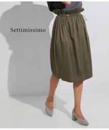 Settimissimo/ドローストリングコクーンスカート/501322190
