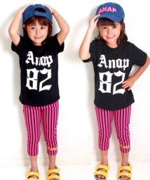 ANAP KIDS/ストライプレギンス&ナンバリングTシャツSET-UP/501322239
