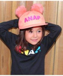 ANAP KIDS/ポンポンファー付くま耳キャプ/501322698