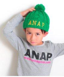 ANAP KIDS/ポンポン付ケーブル編ニット帽/501322699