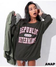 ANAP/カレッジプリントBIGロングTシャツ/501323543