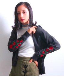 ANAP GiRL/袖薔薇刺繍パーカー/501323985