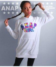 ANAP GiRL/マーブル柄ロゴフーディワンピース/501323992