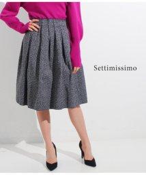 Settimissimo/ツイードメモリータックギャザースカート/501324139