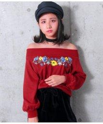 ANAP GiRL/花刺繍オフショルダートップス/501324446