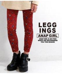 ANAP GiRL/ベロア花柄レギンス/501325002