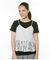 AULI/レースキャミ+Tシャツセット/501325050