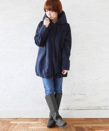 and it_/ぷっくりBIGカラー袖リブロングブルゾン/501326088