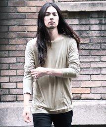JIGGYS SHOP/カットスエードレイヤードTシャツ / ロンT メンズ 長袖Tシャツ ロンティー トップス 重ね着風/501327525