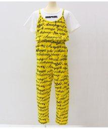 ANAP GiRL/Tシャツ×総ロゴサロペットSET/501329271